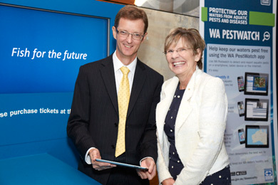 WA's Chief Scientist Professor Lyn Beazley and Department of Fisheries' Director General Stuart Smith