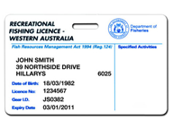 Get your fishing licences online or at Department of