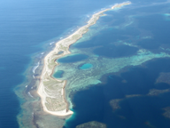 Aerial photo of proposed Mid West aquaculture development at the Abrolhos